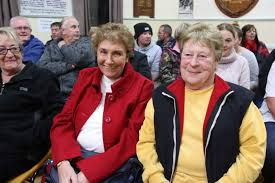 Patricia Bantick (L) and Marlene SMith (R) at church property ...