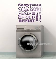 Laundry Room Wall Decal Letters Soak Wash Dry Fold Vinyl Stickers