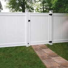 Freedom Emblem 6 Ft H X 5 Ft W White Vinyl Fence Gate Lowes Com In 2020 White Vinyl Fence Vinyl Fence Vinyl Fence Landscaping
