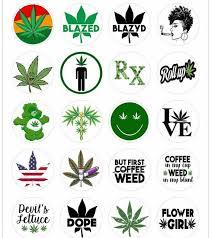 Cannabis Weed Decals Weed Stickers Marijuana Decals Etsy