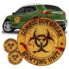 Zombie Outbreak Hunting Unit Orange Fanwraps Car Decal