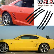 6pcs Side Fender Vent Stripe Panel Insert Stickers Decals For 10 15 Chevy Camaro Ebay