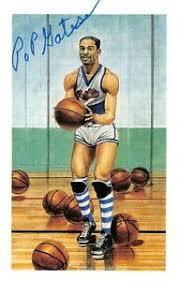 Basketball Center Court Art Card #6 HOF Autograph Pop Gates Globetrotters |  eBay