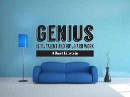 Genius Is Hard Work Wall Decal Canvas Art Rocks
