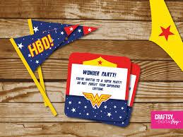 Wonder Woman Party Invitation To Print Cumpleanos De La Mujer