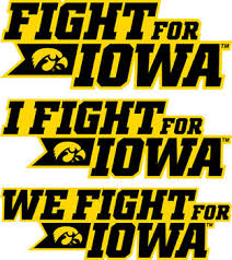 Fight For Iowa Hawkeye Vinyl Decal