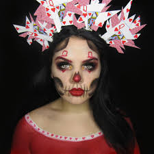 queen of hearts day of the dead makeup