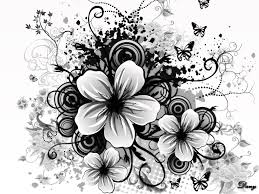 black and white flowers wallpapers hd