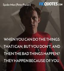 spider man peter parker quotes captain america civil war
