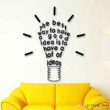 Inspire Message Idea Wall Decals Quotes Wall Sticker For Office Room Removable Art Mural Home Decoration Wallpaper Kids Room Stickers Kids Room Wall Decals From Joystickers 8 87 Dhgate Com