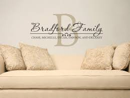 Family Name Wall Decal Custom Personalized Name Vinyl Wall Etsy