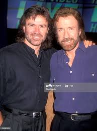 Actor Chuck Norris and brother Aaron Norris attend the 1994 Video ...