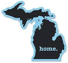 Amazon Com Ak Wall Art Michigan Native Home Vinyl Sticker Car Window Bumper Laptop Select Size Home Kitchen
