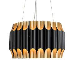 modern bauhaus chandelier black gold