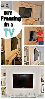 diy framing and molding for a tv