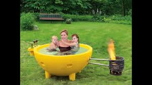 Fire Burning Portable Hot Tub - YouTube