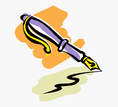 Transparent Writing Clipart Png - Fountain Pen Illustration, Png ...