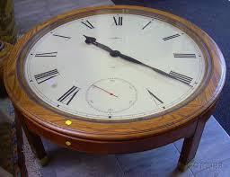 oak case howard miller clock coffee