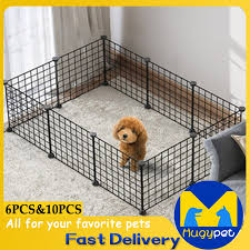 Diy Pet Metal Wire Kennel Extendable Pet Fence Dog Cat Cage Shopee Philippines