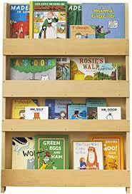 Amazon Com Tidy Books Kids Bookshelf Age 0 10 Wall Bookcase For Kids Room Natural Wood Montessori Bookshelf Front Facing Bookshelf 45 3 X 30 3 X 2 8 In Eco Friendly Handmade The Original Since 2004 Furniture Decor