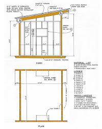 10 12 lean to storage shed plans how