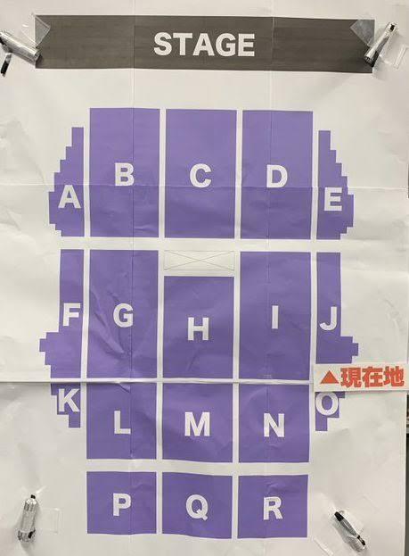 乃木坂46 3・4期生ライブの座席表