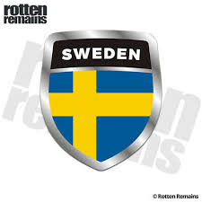 Sweden Swedish Nordic Flag Shield Decal Badge Car Motorcycle Decal Sticker V Car Truck Graphics Decals Auto Parts And Vehicles Tamerindsa Com Ar