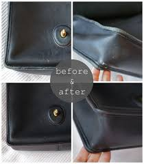 franish restoring a leather purse