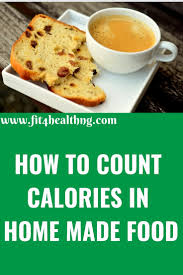 how to count calories in food