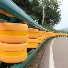 Safety Roller Barrier Highway Guardrail W Beam Barrier Post Spacer Thrie Beam Guardrail Fence Crash Barrier Q235steel