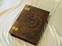 wooden wood book of shadows journal