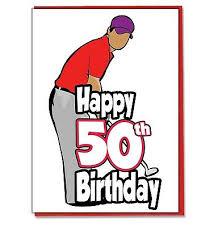 golf golfer 50th birthday card dad