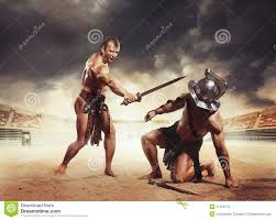 Gladiators Fighting On The Arena Of The Colosseum Stock Photo 41010772 -  Megapixl