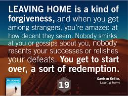 leaving home is a kind