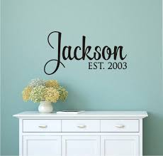 Personalized Family Name Custom Last Name Vinyl Wall Decal Etsy