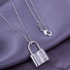 fashion jewelry 925sterling silver lock