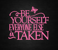 Be Yourself Everyone Else Is Taken Decal Car Decal Window Decal Craft Decal Wall Decal Compute Reading Motivation Quotes Sparkle Quotes Sign Quotes