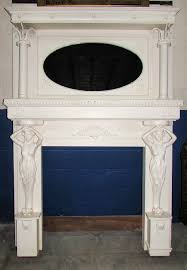 1920s hand carved wood fireplace