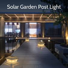 Solar Post Lights Garden Landscape Lamp Ip44 Water Resistant Outdoor Post Cap Lights For Fence Deck Patio Fits 4x4 Or 6x6 Posts Lazada Ph
