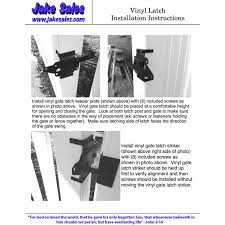 Vinyl Gate Latch Black For Vinyl Wood Pvc Etc Fencing Fence Gate Latch W Mounting Hardware Gate Latches Have A 90 Degree Bracket Resulting In A Positive Latch To Gate Connection