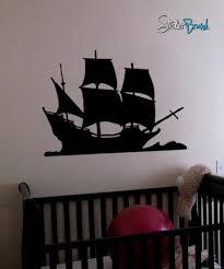 Vinyl Wall Decal Sticker Pirate Sail Ship Decoration 197 Stickerbrand