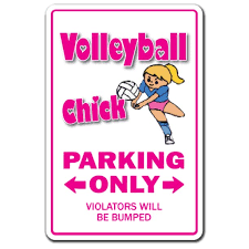 Volleyball Chick 3 Pack Of Vinyl Decal Stickers For Laptop Car Walmart Com Walmart Com