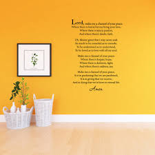 Vwaq Make Me A Channel Of Your Peace Wall Quotes Decal St Francis