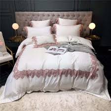 shabby chic wide lace duvet cover