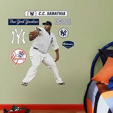 Fathead Mlb New York Yankees Cc Sabathia Home Junior Wall Graphic Bed Bath Beyond