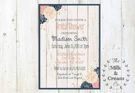 shabby chic rustic bridal shower invite