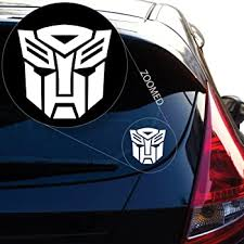 Amazon Com Yoonek Graphics Autobot Inspired Transformer Decal Sticker For Car Window Laptop And More 544 12 X 12 White Automotive