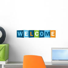 Welcome Card Smile Congratulations Wall Decal Wallmonkeys Com