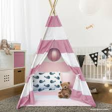 Striped Teepee Tent For Kids Sorbus Home