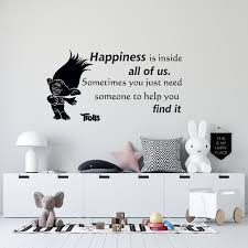 Trolls World Tour Movie Branch Quotes Wall Decal Happiness Is Inside All Of Us Sometimes You Just Need Someone To Help You Find It 12 X 20 Home Kids Bedroom